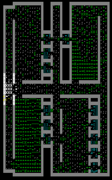 This is Tekkud's glimpse of the primary workshop level of Bronzebanners, again revealing how the goblin occupiers managed to scatter almost everything stored in the fortress, leaving a huge mess for the mission to reclaim the fortress to clean up.
