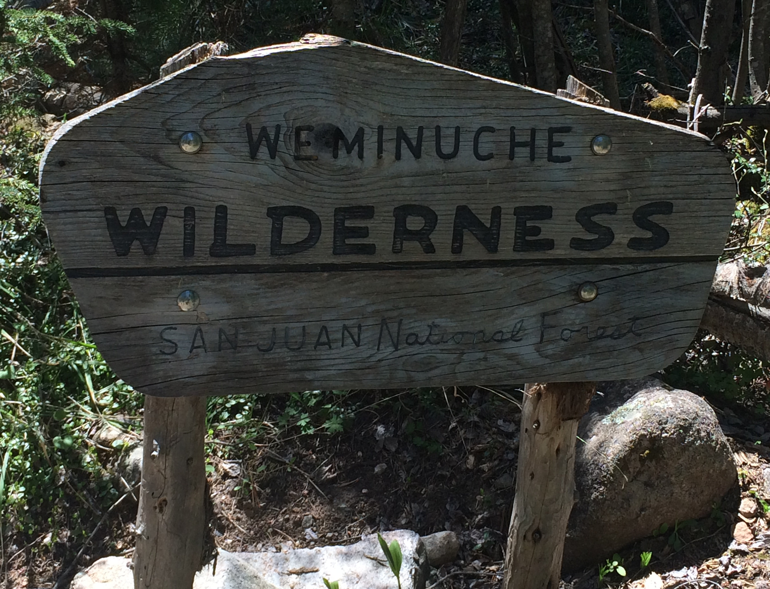 Weminuche Wilderness Sign